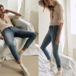 ZARA | Mid-Rise Dark Wash Skinny Jeans Size 02